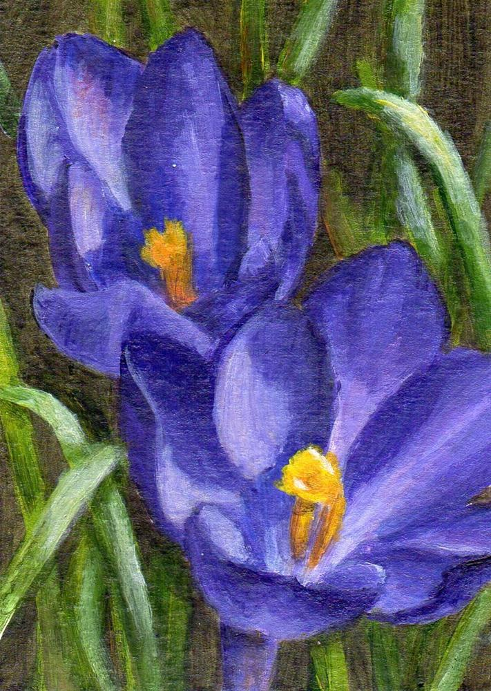 """Sign of Spring"" original fine art by Debbie Shirley"