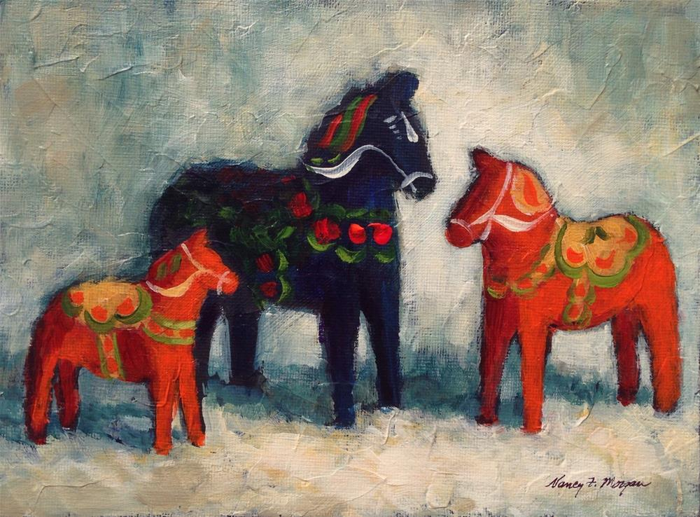 """Conversation"" original fine art by Nancy F. Morgan"