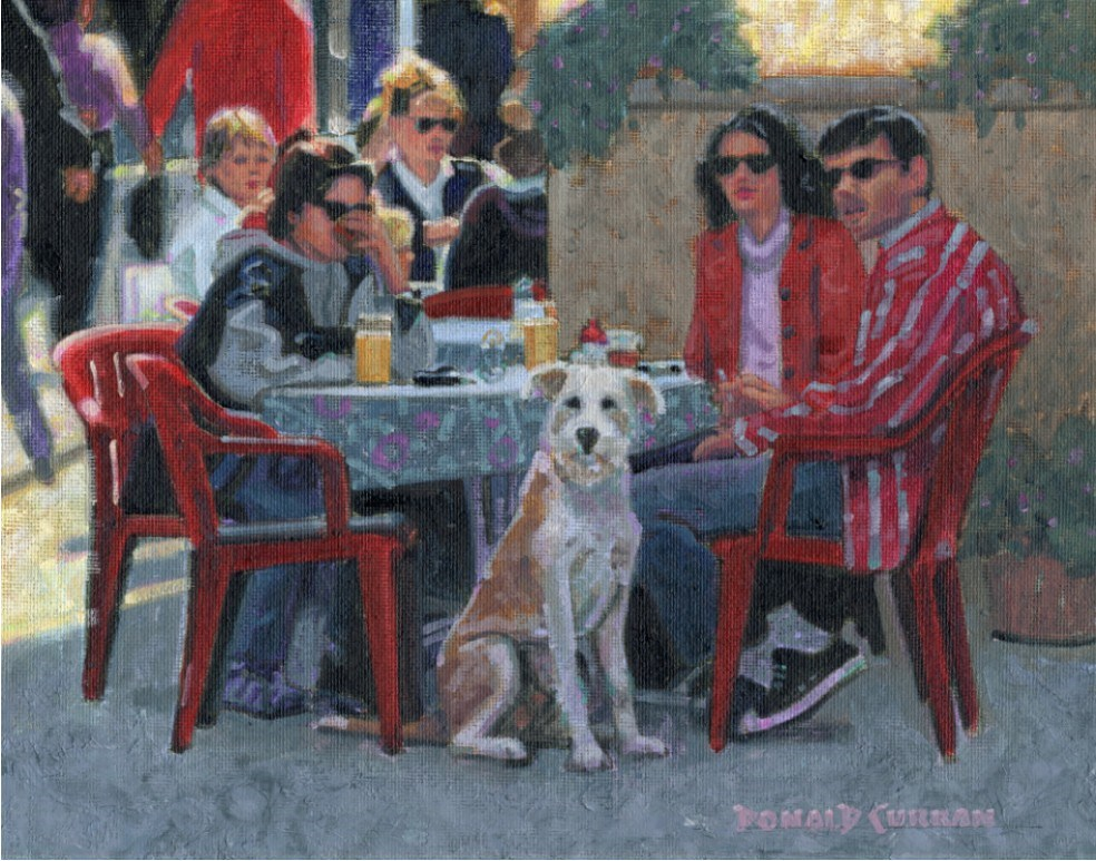"""Paris Cafe"" original fine art by Donald Curran"