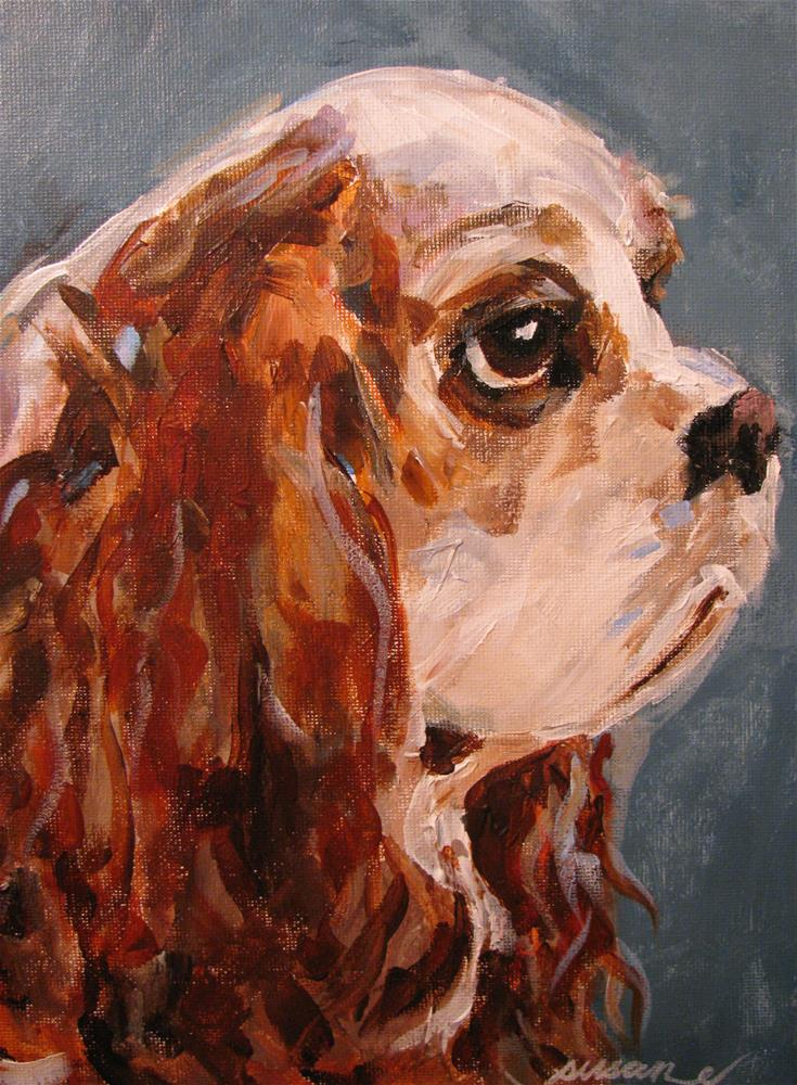 """King Charles Cavalier Spaniel"" original fine art by Susan Elizabeth Jones"