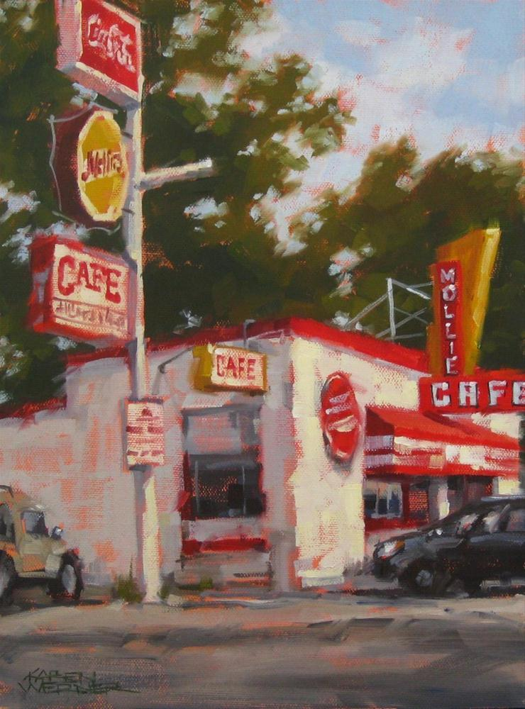 """Can't Miss Mollie's"" original fine art by Karen Werner"