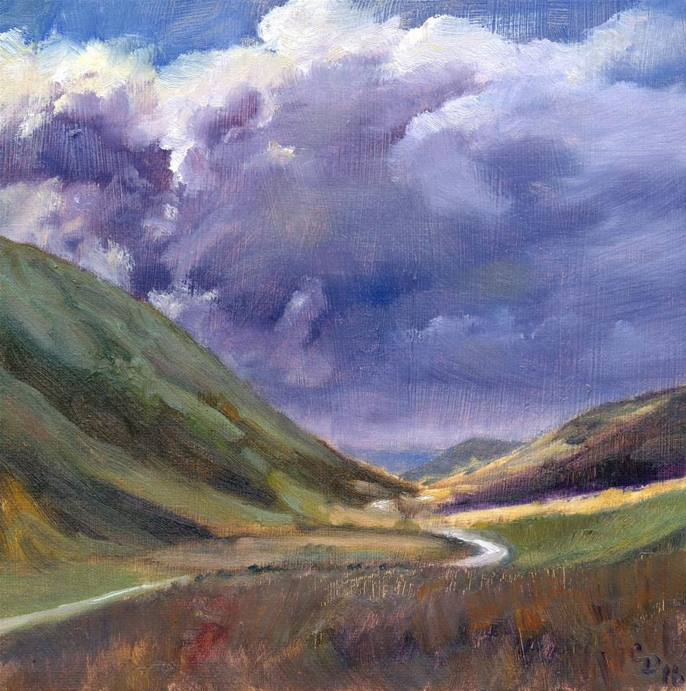 """Valley Storm"" original fine art by Christine Derrick"