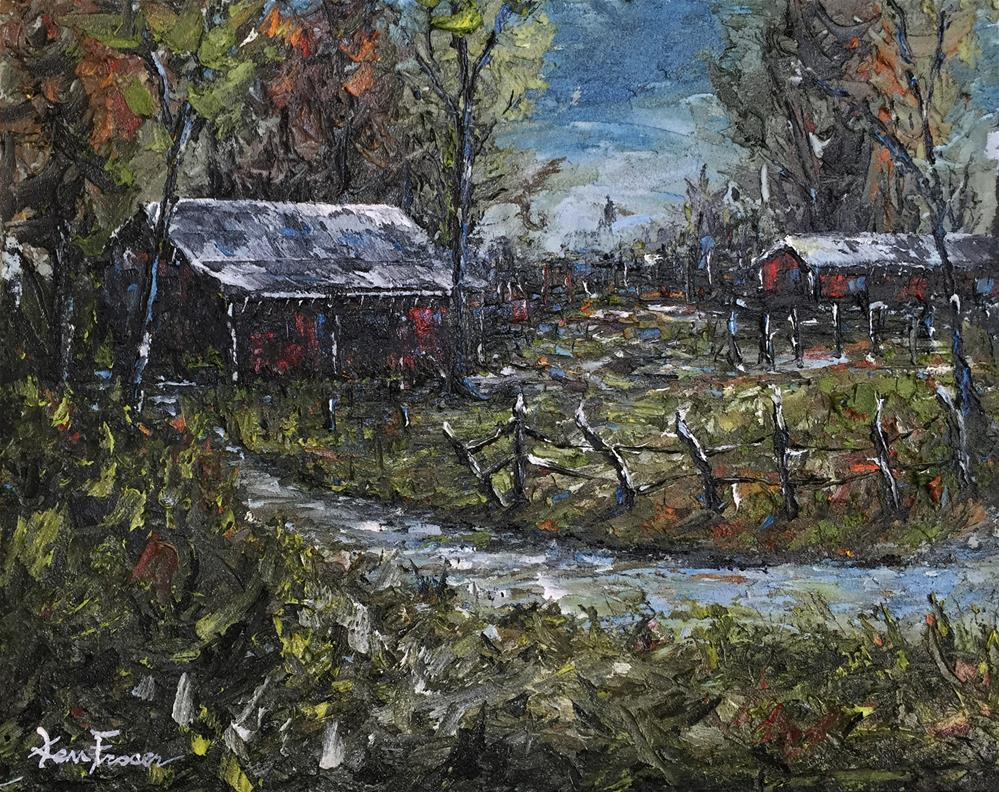 """Country Barn 2"" original fine art by Ken Fraser"