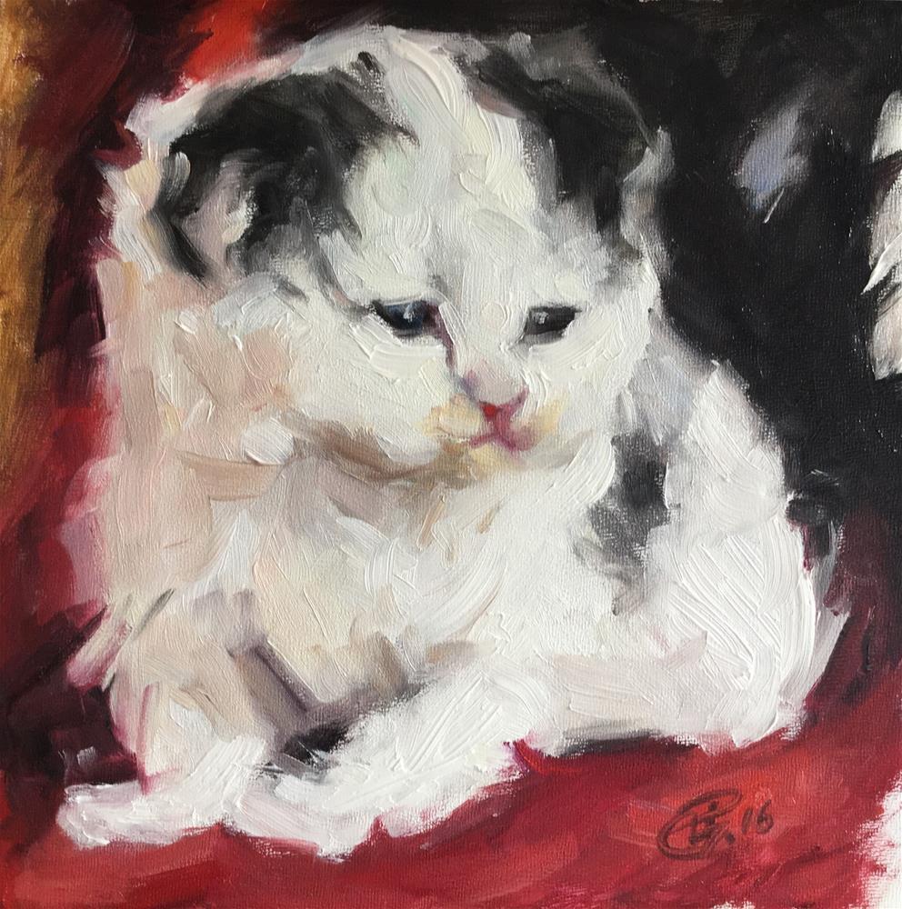 """Sketch of kitten"" original fine art by Paula Howson-Green"