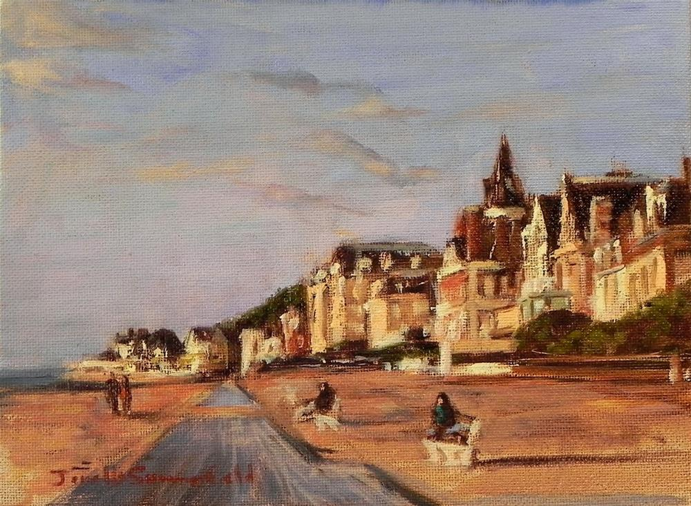 """Trouville Beach Study"" original fine art by Jonelle Summerfield"