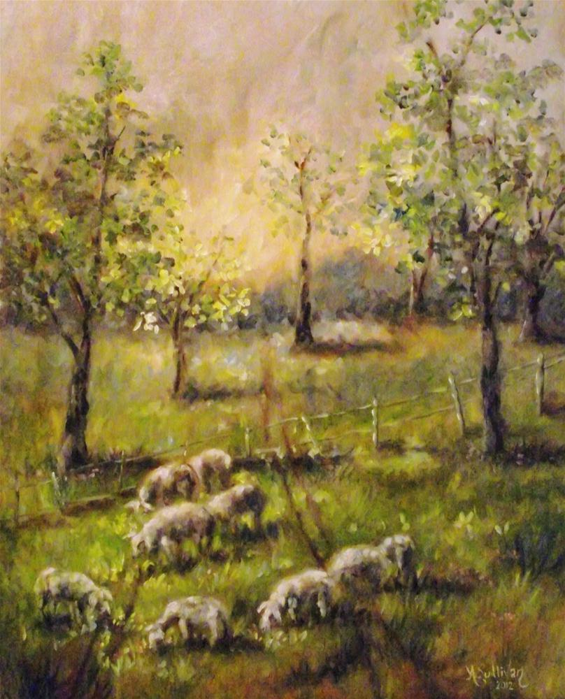 """Feed My Sheep"" original fine art by Angela Sullivan"