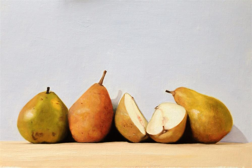 """Pears"" original fine art by James Coates"