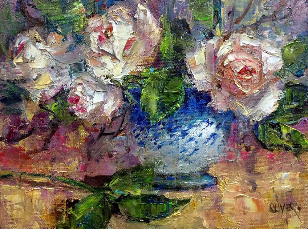"""- Roses #2   Plus Picasso and the Lyrical Line"" original fine art by Julie Ford Oliver"