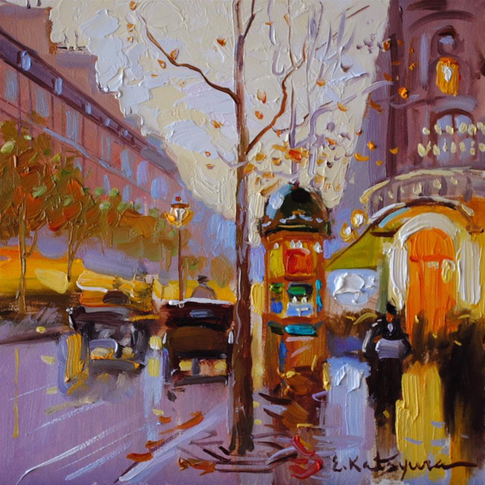 """October Street"" original fine art by Elena Katsyura"