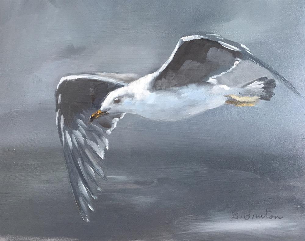 """Gull"" original fine art by Gary Bruton"