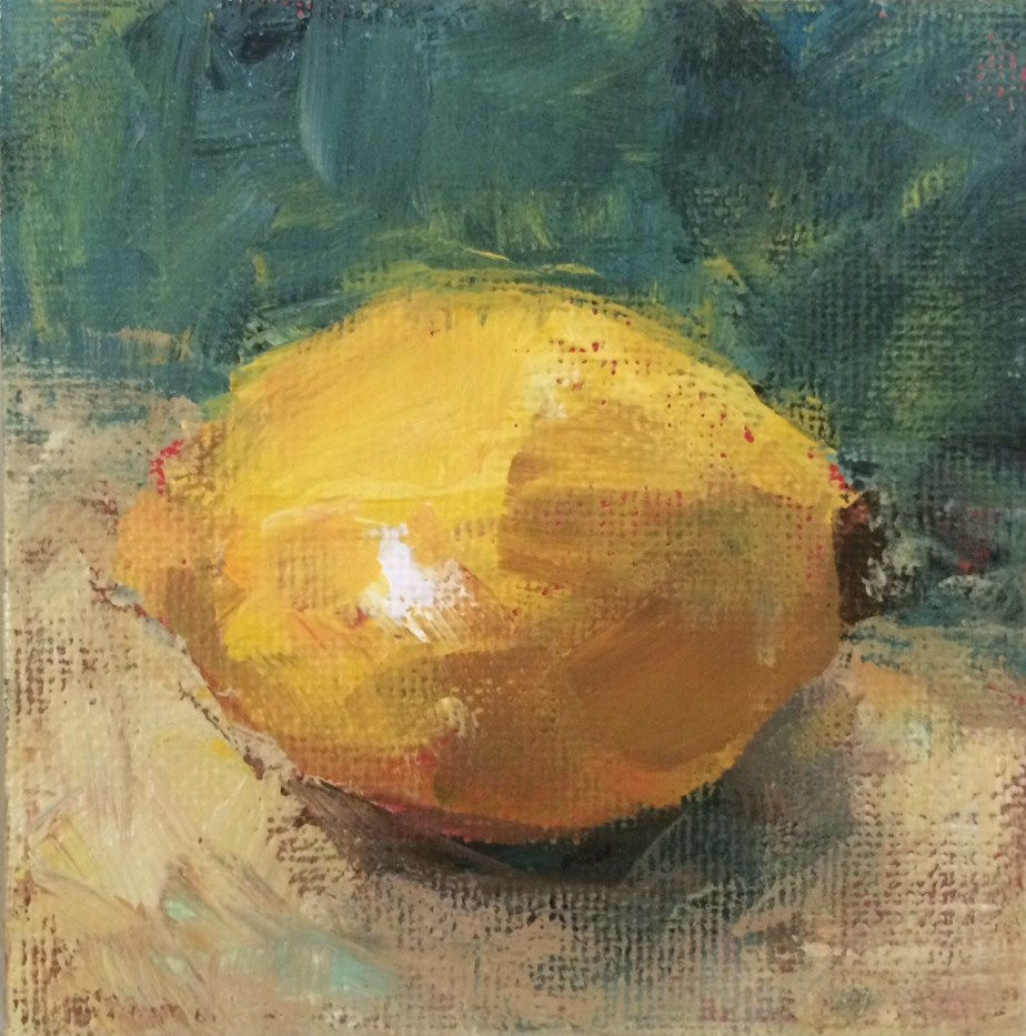 """Sketchy Lemon"" original fine art by Shannon Bauer"