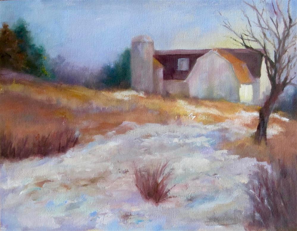 """""""Spring Thaw"""" original fine art by Linda Carney"""
