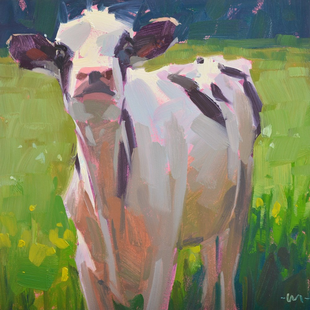 """What's Up Cow"" original fine art by Carol Marine"