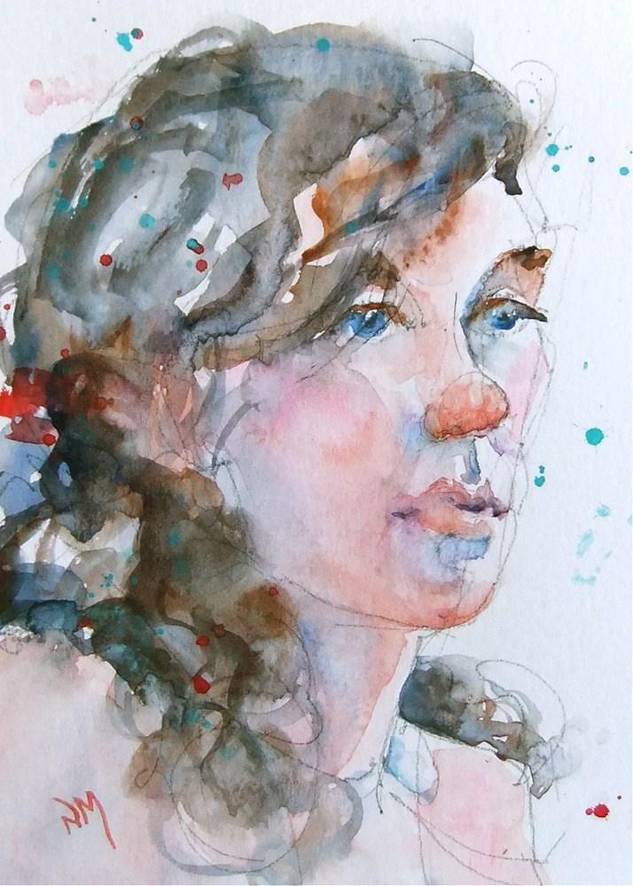 """Rochelle 2"" original fine art by Nora MacPhail"