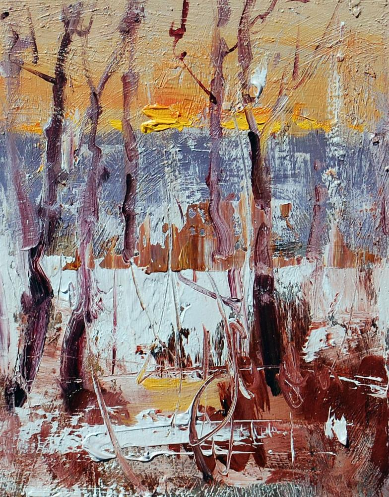 """Winter Light"" original fine art by Mahin Gholizadeh"