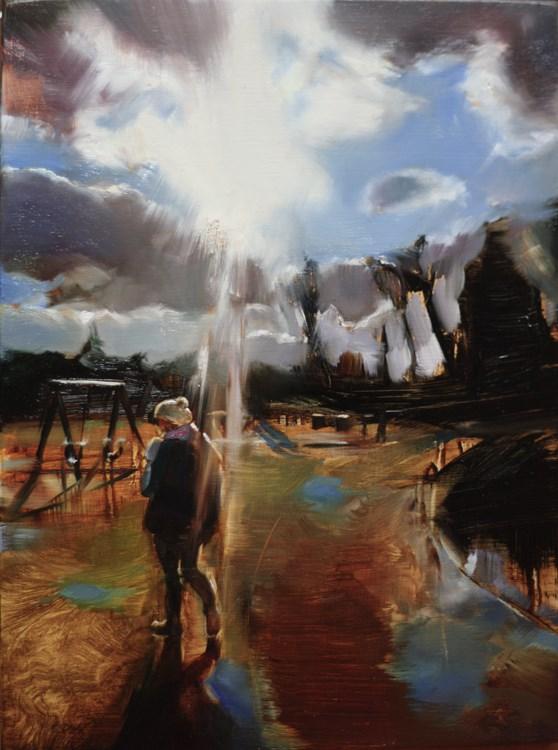 """Walk"" original fine art by Eszter Szicso"