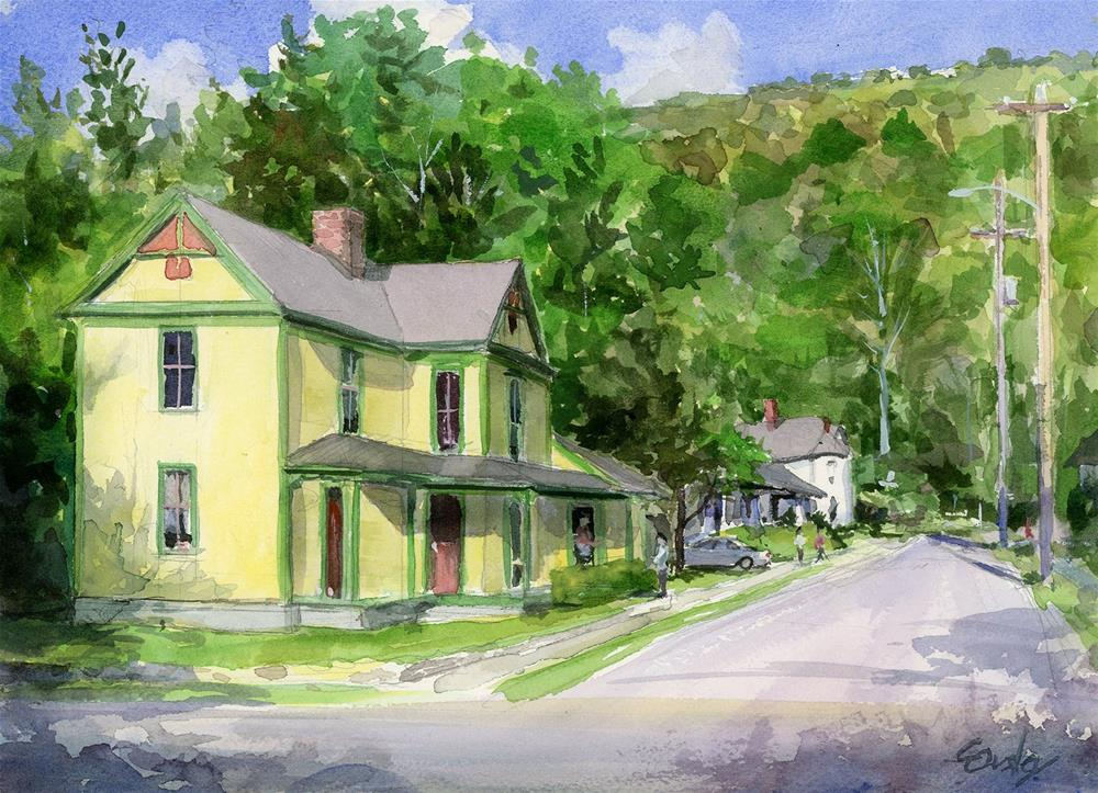 """""""Yellow House"""" original fine art by Chris Ousley"""