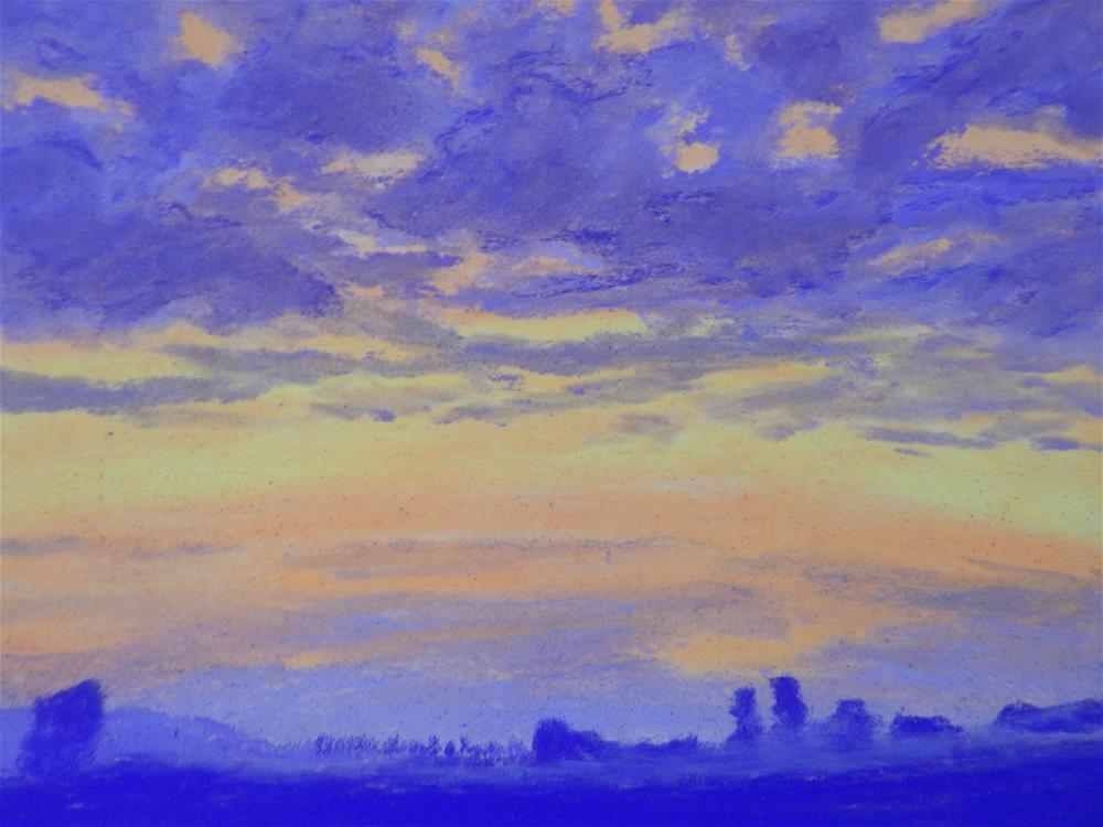 """Coastal Sunset"" original fine art by Elaine Shortall"