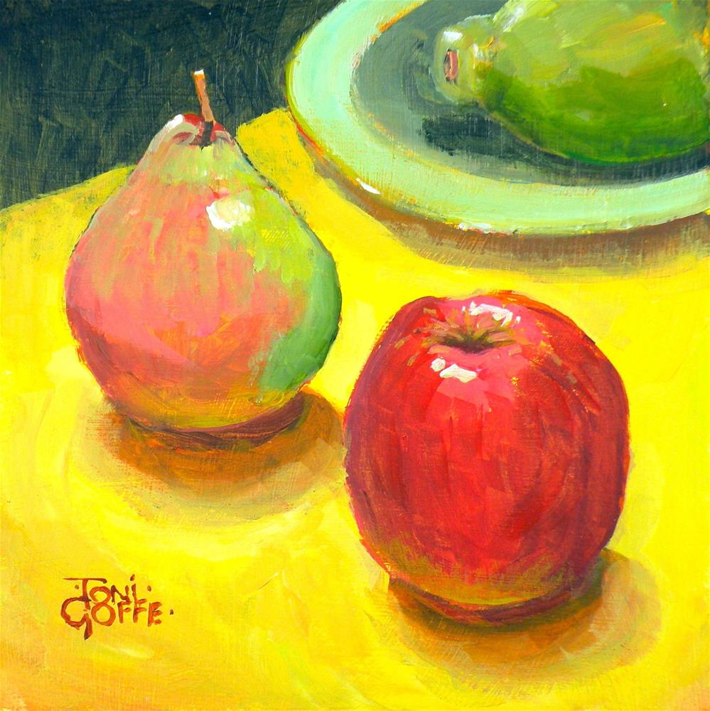 """Guava Bombing"" original fine art by Toni Goffe"