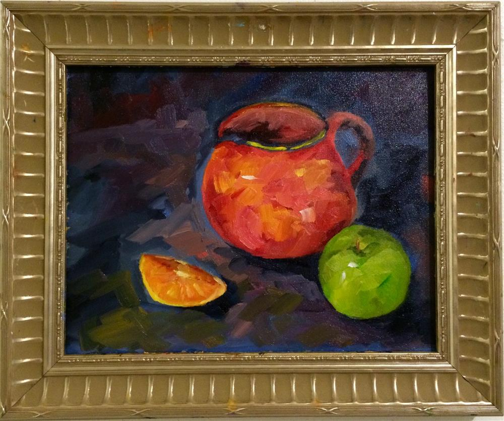 """Apple etc"" original fine art by Ramya Sarveshwar"