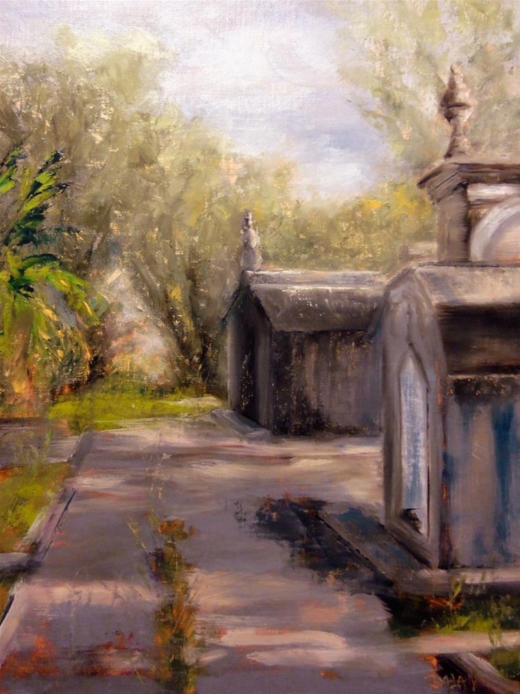 """A Grave Path II Old New Orleans Graves From Odd Fellows Rest Cemetery"" original fine art by Dalan Wells"