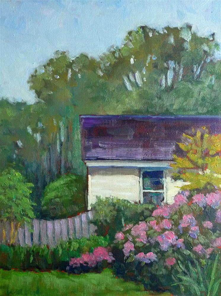 """""""Backyard Garden"""" original fine art by Lisa Kyle"""