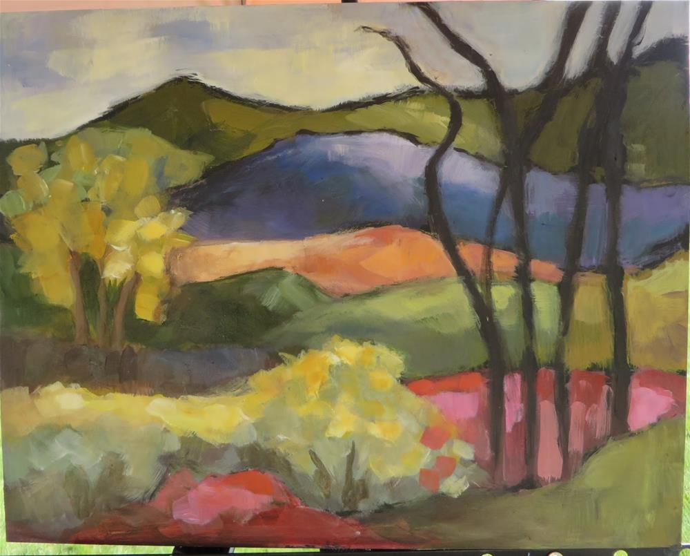 """696 View from The Couse-Sharp Historic Site"" original fine art by Diane Campion"