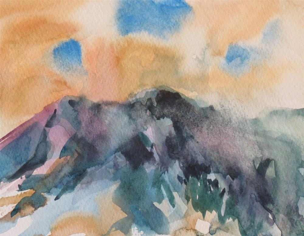 """Tangerine Mountain Sky"" original fine art by Dann Morris"