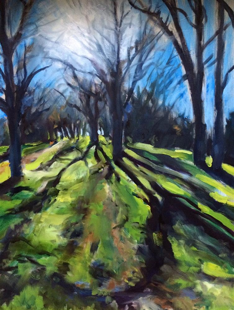 """Winter Light, Briones Park"" original fine art by John Tullis"