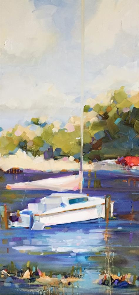"""Marina Day"" original fine art by Kathleen Broaderick"
