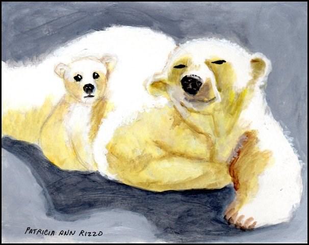 """Polar Bear Mama"" original fine art by Patricia Ann Rizzo"