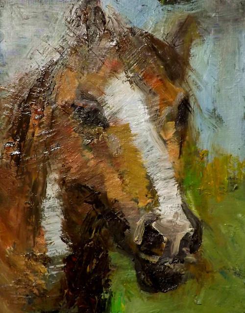 """horse,6"" original fine art by Run-      Zhang Zane"
