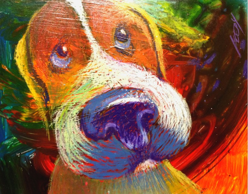 """Big Wet Nose"" original fine art by Jeff Leedy"
