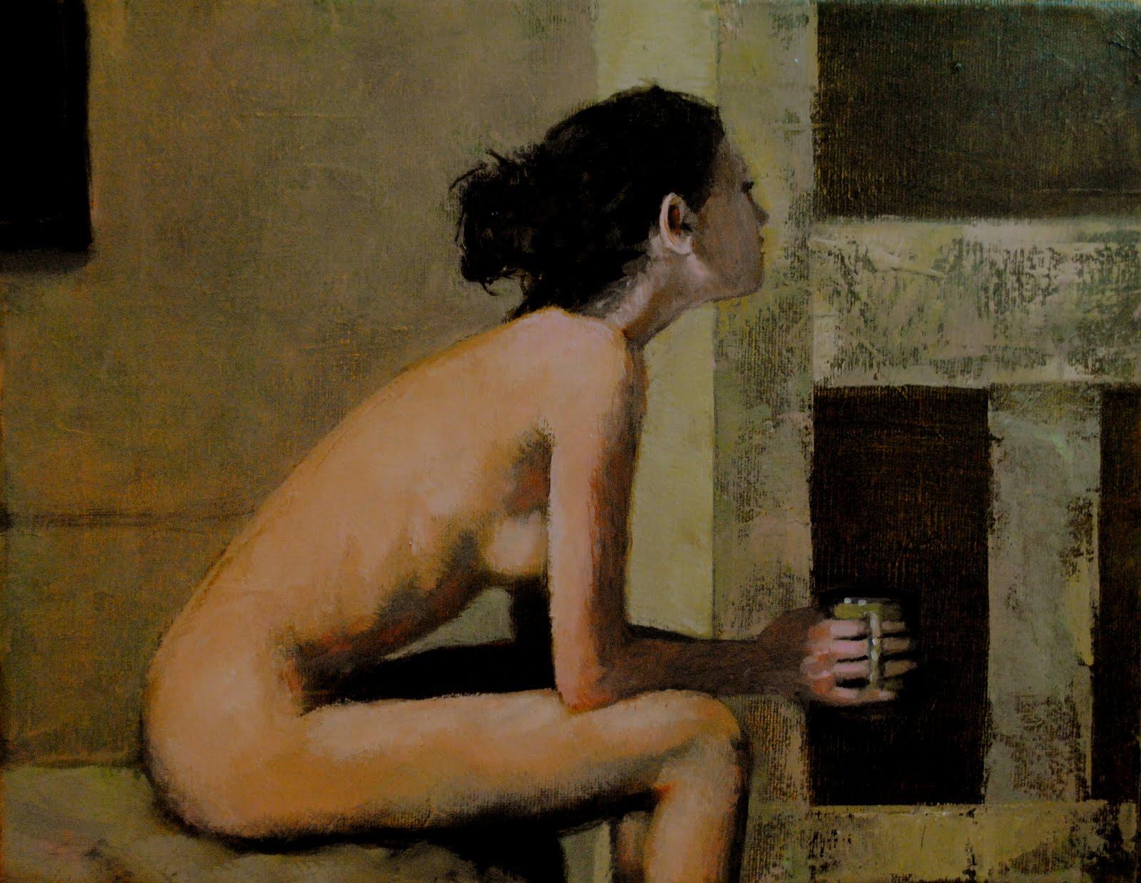 """Summer Nights 11x14 oil on canvas in darkwood frame"" original fine art by David Larson Evans"