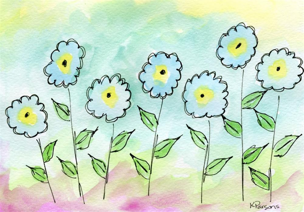 """All in a Row"" original fine art by Kali Parsons"