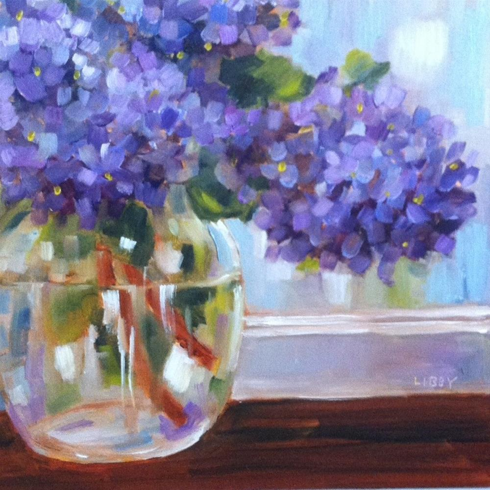 """Bowl of Lilacs"" original fine art by Libby Anderson"