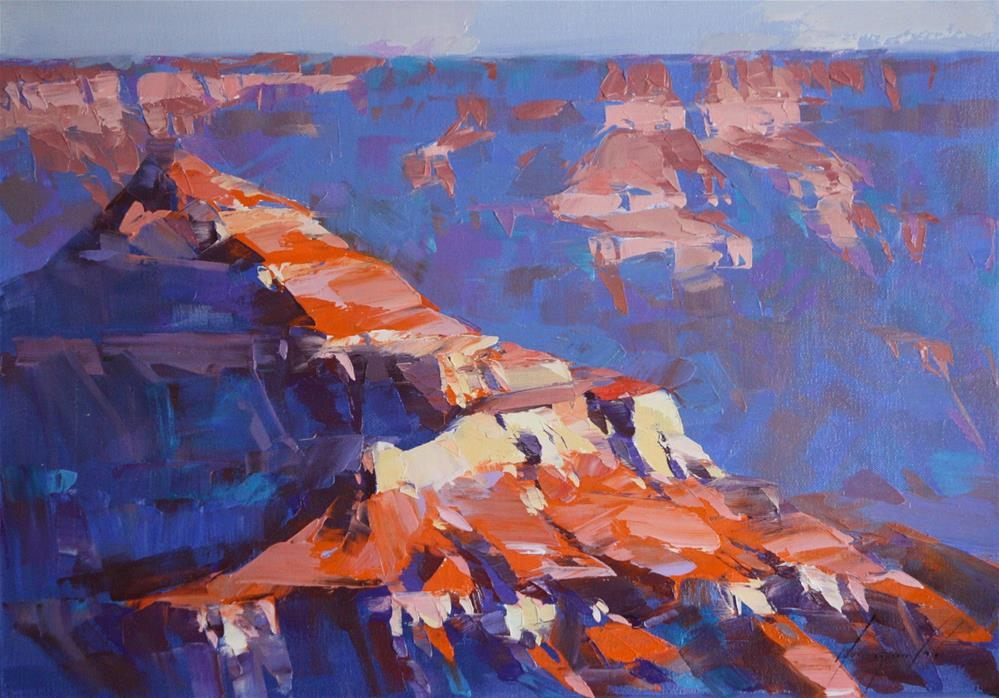 """GRAND CANYON ORIGINAL OIL PAINTING"" original fine art by V Y"