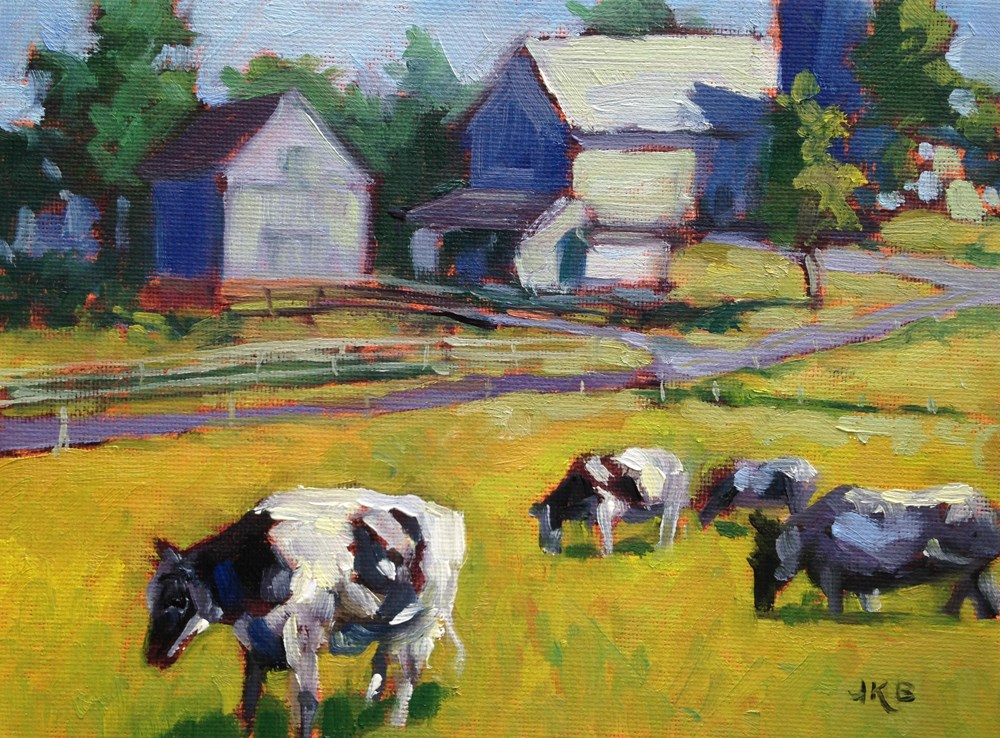 """Ladies of Lancaster"" original fine art by Jeanne Bruneau"