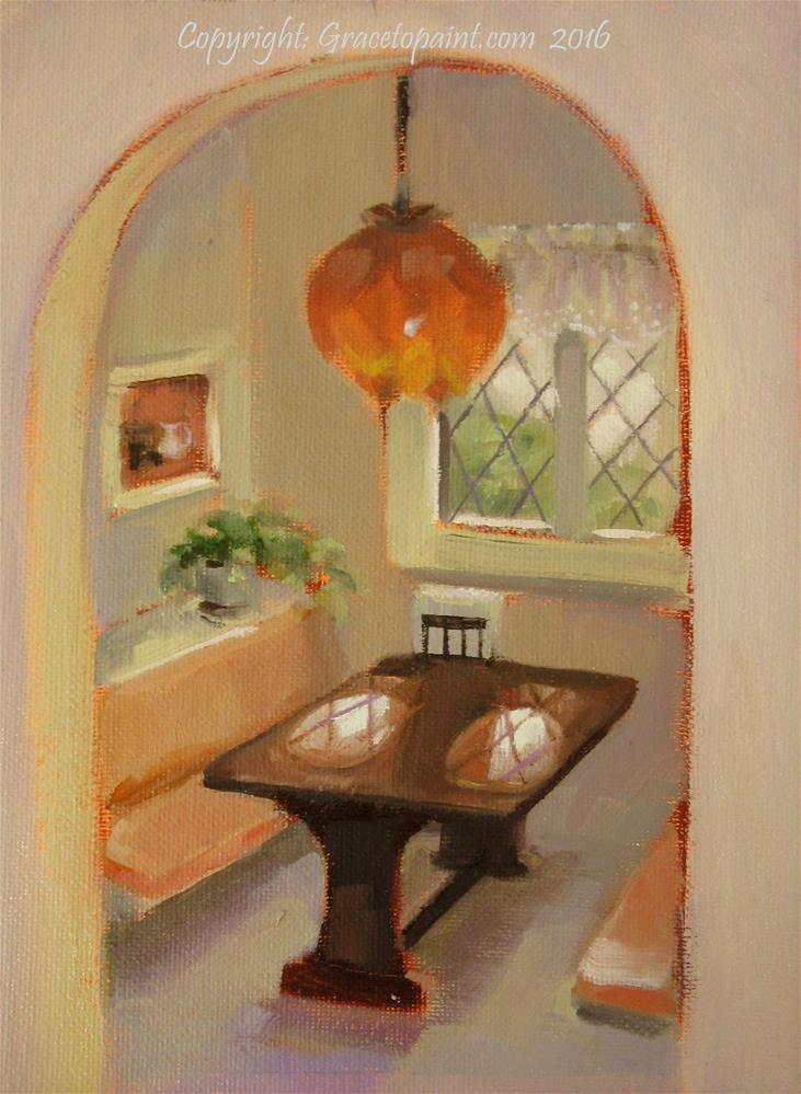 """Breakfast Nook"" original fine art by Maresa Lilley"