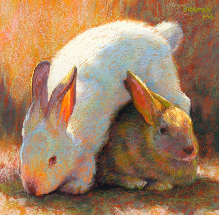 """Hop Cross Buns - day 30"" original fine art by Rita Kirkman"