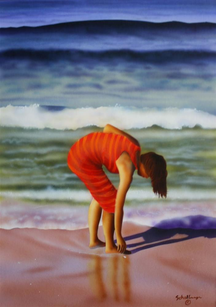 """The Shell Seeker"" original fine art by Fred Schollmeyer"