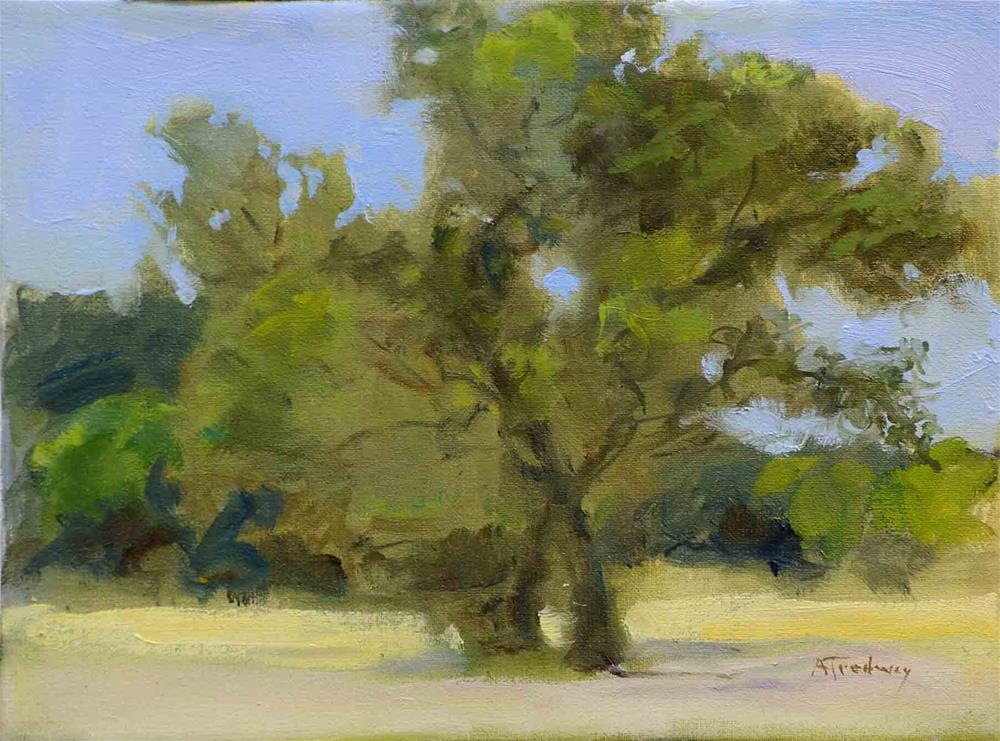"""Oaks at Community Park"" original fine art by alicia tredway"