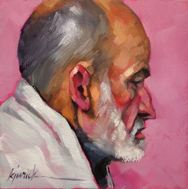 """200 Faces, No. 131"" original fine art by Karin Jurick"