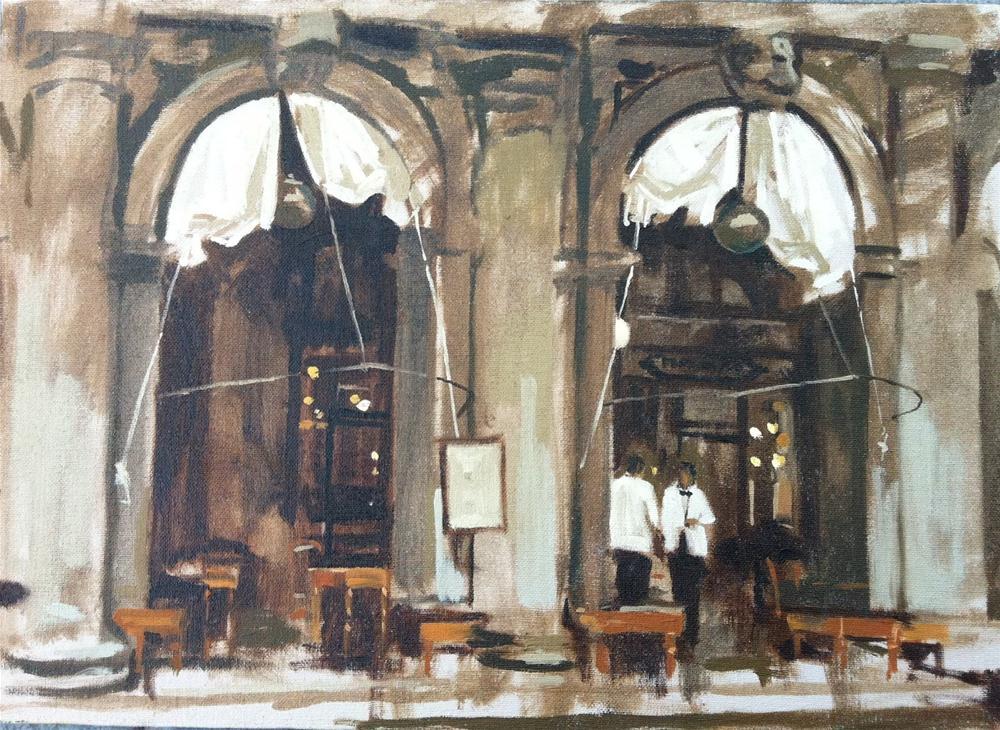 """Caffè Florian"" original fine art by Haidee-Jo Summers ROI"