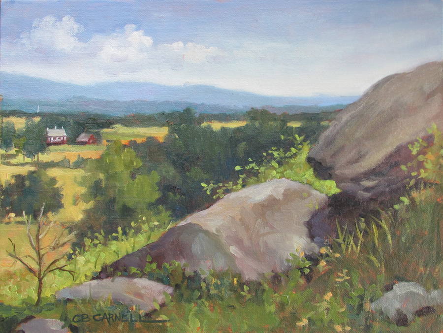 """LITTLE ROUND TOP Original Plein Air Oil Painting by Claire Beadon Carnell"" original fine art by Claire Beadon Carnell"