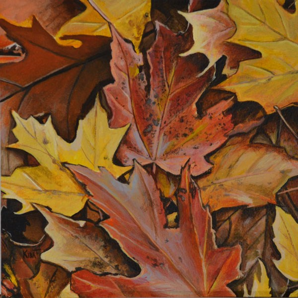 """Autumn Leaves"" original fine art by Kim Testone"