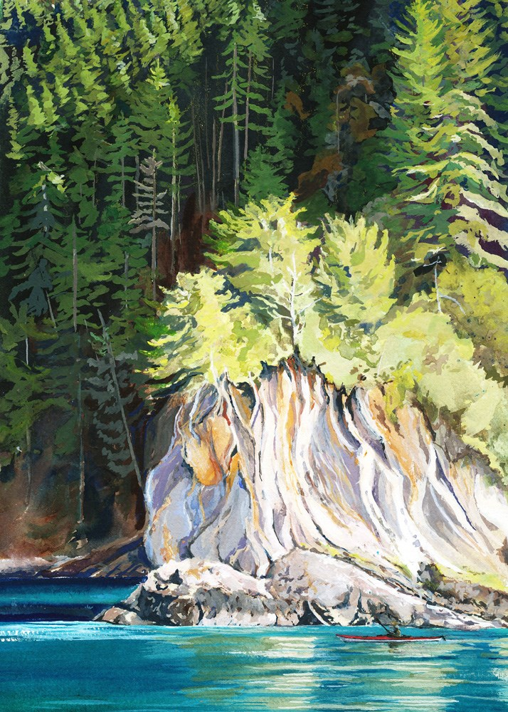 """Point Adolphus"" original fine art by Carole Baker"