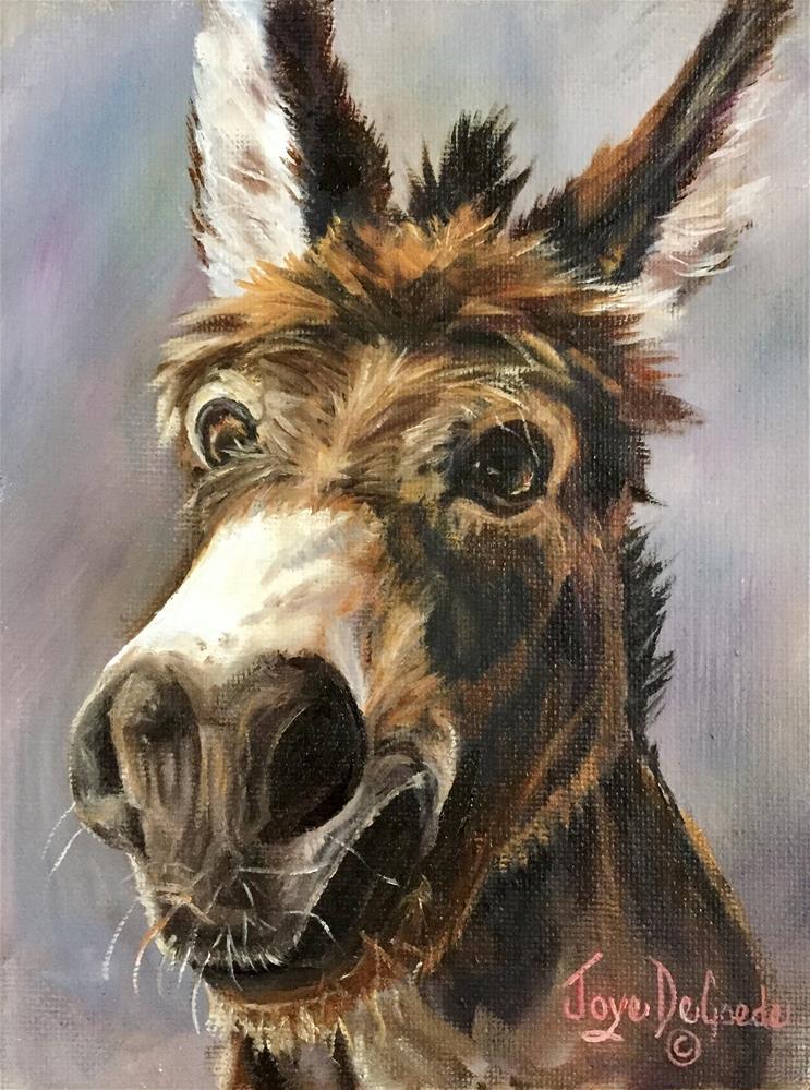 """Hey There, Hi There, Ho There© JoyEful Party Animals TM by Joye DeGoede"" original fine art by Joye DeGoede"
