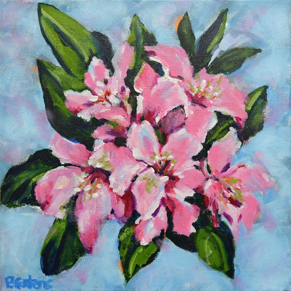 """Rhodies for The Greenbrier"" original fine art by Pamela Gatens"