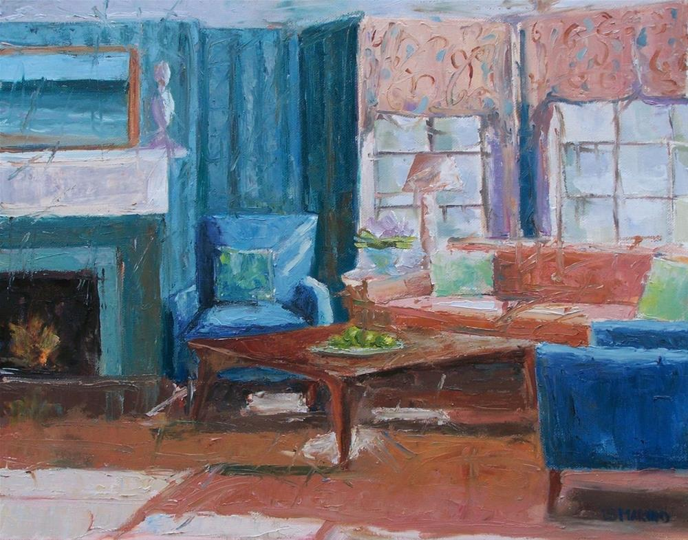 """Sea Glass Living Room"" original fine art by Linda Marino"